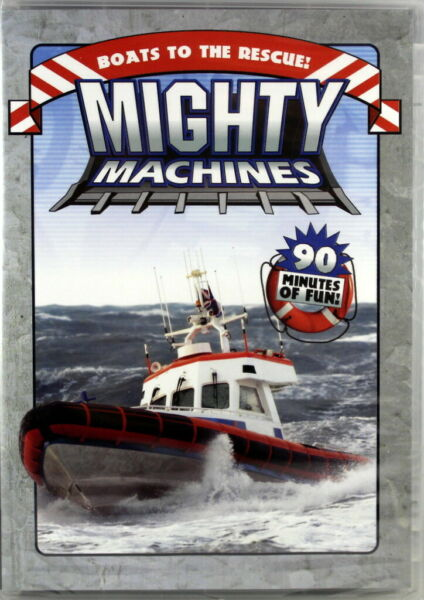 Mighty Machines Boats To The Rescue NEW DVD Skipper and Sambro Coast Guard Boat