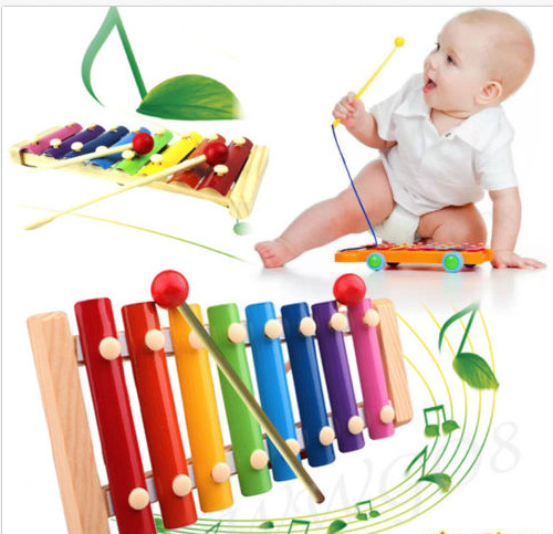 Baby Kid Musical Education Toys Xylophone Wisdom Development Wooden Instrument