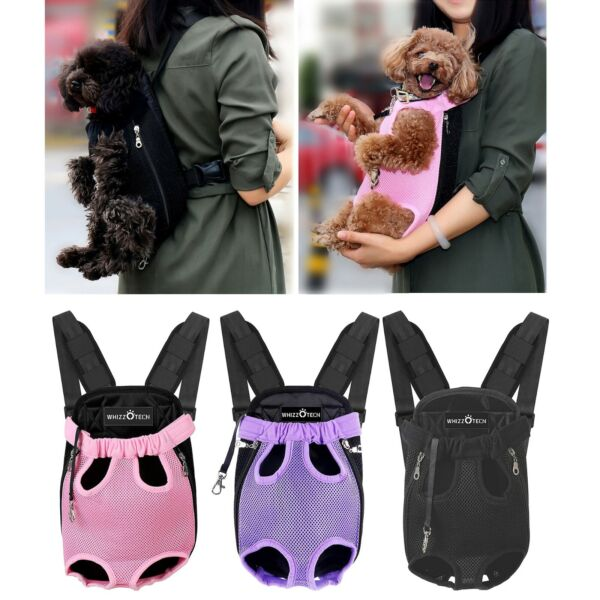 Legs Out Front Dog Carrier Hands Free Adjustable Pet Cat Puppy Backpack Carrier $14.24