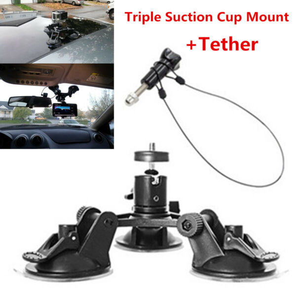Triple Low Angle Suction Cup Mount Holder +12