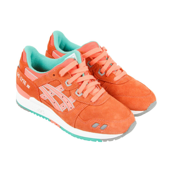 Asics Gel Lyte III Mens Orange Mesh & Suede Lace Up Sneakers Shoes