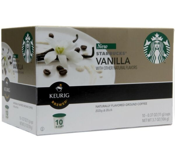 Starbucks Vanilla Naturally Flavored Brewed Coffee K-Cups Keurig Hot