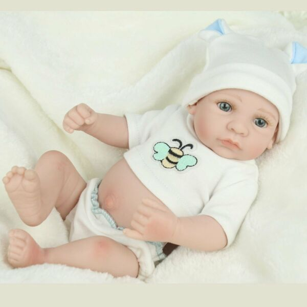 10'' Handmade Baby Dolls Lifelike Anatomically Correct Vinyl Silicone Boy Doll