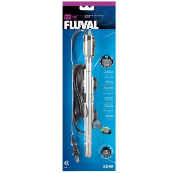 FLUVAL M50 SUBMERSIBLE GLASS AQUARIUM HEATER 50 WATT HAGEN A 781 $31.99