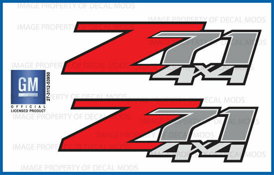 2 - Z71 4x4 Decals Stickers 2007 2008 2009 2010 2011 2012 2013 Chevy GMC - F