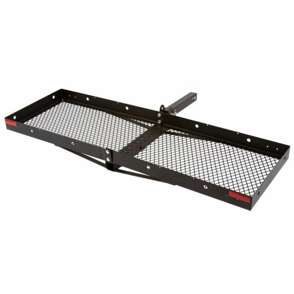 Hitch Mounted 60quot; Steel Tray Folding Cargo Carrier 500lb Capacity $145.99