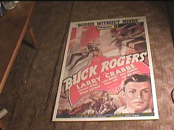 BUCK ROGERS CHAPTER 9 1939 ORIG MOVIE POSTER BUSTER CRABBE SCI FI SERIAL LINEN