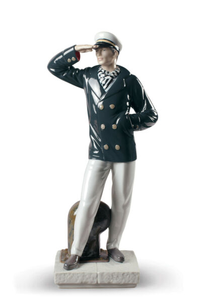 LLADRO SEARCHING NEW HORZONS SAILOR #9281 BRAND NIB UNIFORM OCEAN SAVE$ FSH