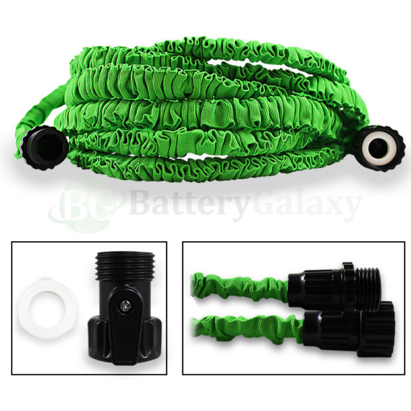 50 Feet 50FT Expandable Flexible Garden Lawn Water Hose Nozzle Green 400+SOLD