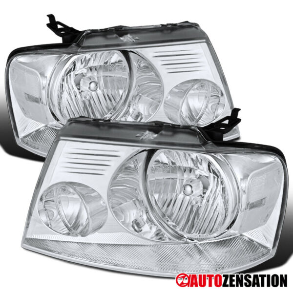 For 2004-2008 Ford F150 2006-2008 Lincoln Mark LT Clear Headlights Left+Right