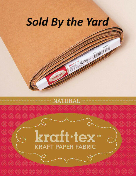 Kraft tex Paper Fabric Natural 19quot; Wide By The Yard