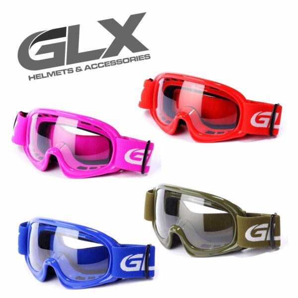 GLX Youth Goggles ATV Dirt Bike Motocross MX Motorcycle Kids Boys Girls Pouch $15.95