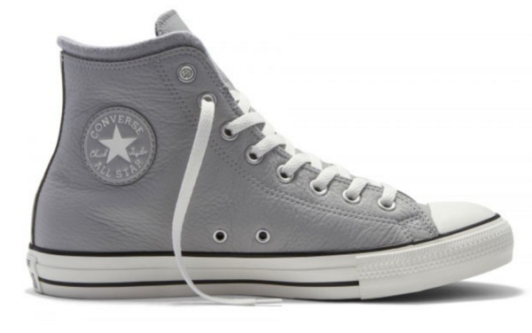 Converse Chuck Taylor All Star Grey Dolphin White Leather Wool Shoes 153818c