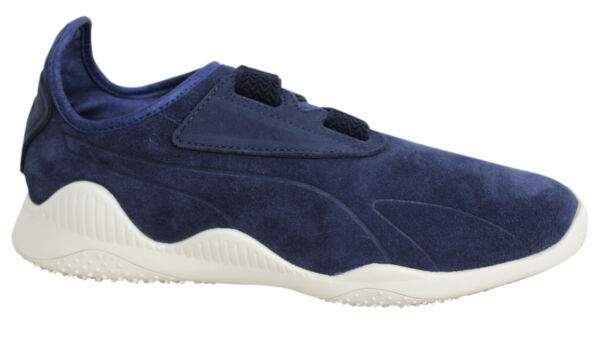 Puma Mostro Navy Strap Up Leather Suede Mens Trainers 363450 01 U64