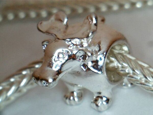 SILVER PLATED MOOSE  BEAD CHARM **WILDERNESS**SEE MY STORE FOR BRACELETS