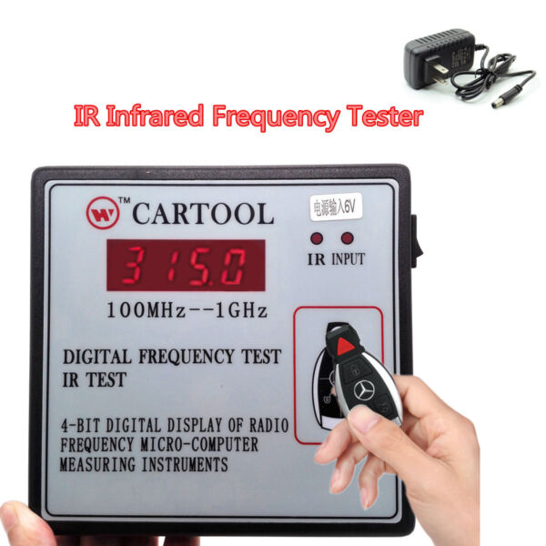 Digital Frequency Test  100MHz--1GHz Car IR Infrared Remote Key Frequency Tester