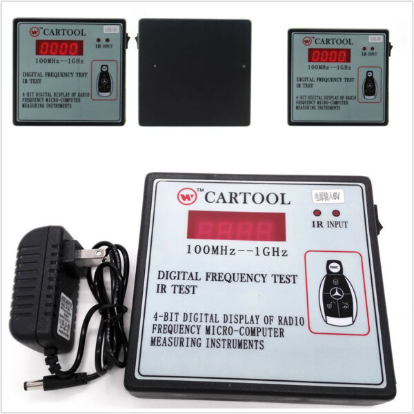 Car IR Infrared Remote Key Frequency Tester Digital Frequency Gauge 100MHz-1GHz