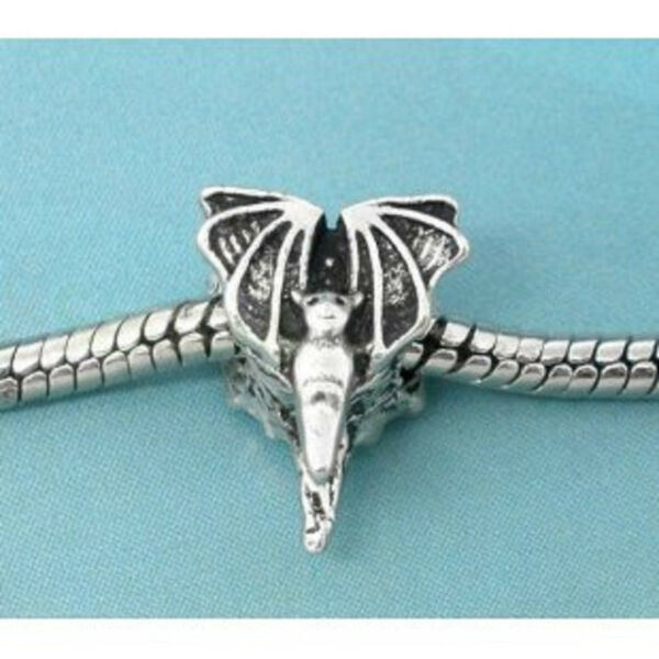 ANTIQUE  SILVER  BAT CHARM ** C MY STORE FOR MORE CHARMS AND BRACELETS