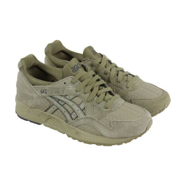 Asics Gel Lyte V Mens Green Suede Lace Up Sneakers Shoes