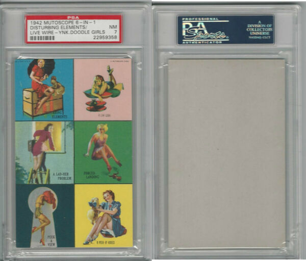 W424-2f Mutoscope Yankee Doodle Girls 1942 Six Images (Live Wire) PSA 7 NM