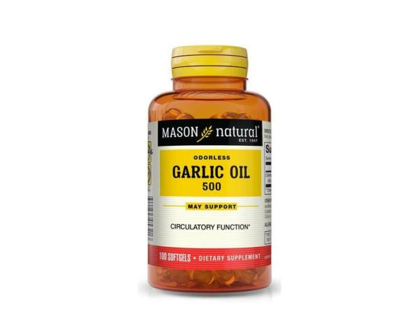 100 SOFTGELS GARLIC OIL 500 mg CONCENTRATE lower cholesterol Supplement cardio