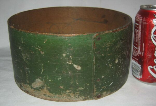 ANTIQUE USA PRIMITIVE FOLK ART HARD WOOD COUNTRY KITCHEN PANTRY BOX GREEN PAINT