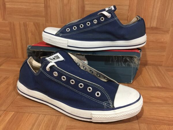 VNTG🇺🇸 Converse Chuck Taylor All Star Original Low Ox Navy Made In USA 13 #1AA