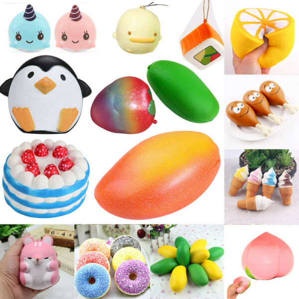 Squishy Scented Charms Squeeze Slow Rising Stress Relief Fun Kids Toy Collection