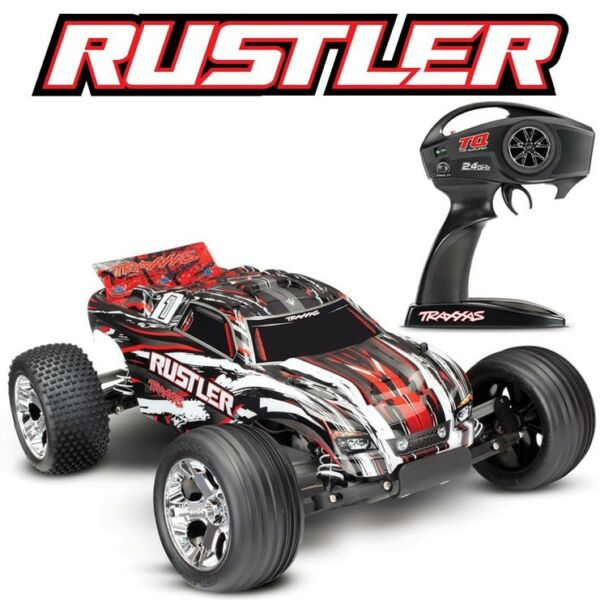 NEW Traxxas 37054-4 Rustler XL-5 1/10 2WD RC Stadium Truck Rock-N-Roll Edition