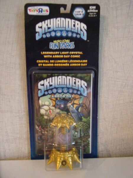 Skylanders Imaginators - Legendary Light Crystal with Arbor Day Comic - New