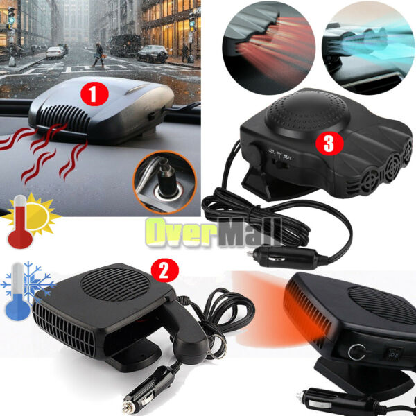 150W-200W Portable Car Ceramic Heating Cooling Heater Fan Defroster Demister 12V