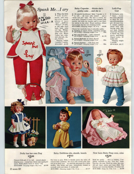 1963 PAPER AD Doll Baby Cupcake Dancing Cuddly Wuddly Peep Dollikins Dolly Ann