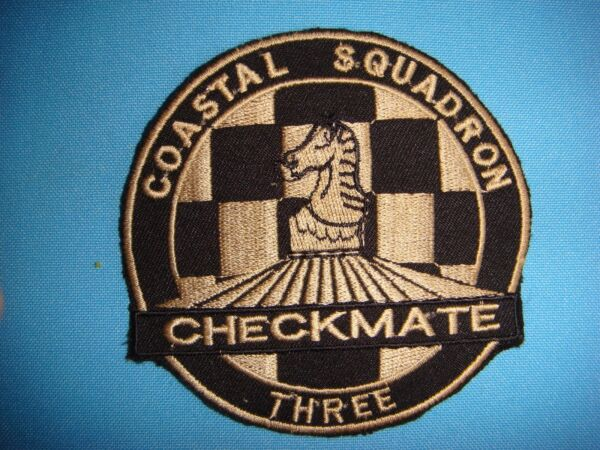 VIETNAM WAR PATCH US COASTAL SQUADRON 3 CHECK MATE