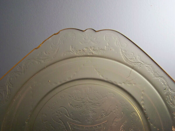 Federal Amber Glass Madrid Luncheon Plate 9quot;