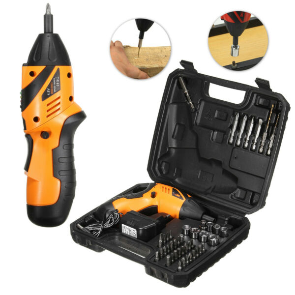 45 in 1 Power Tool Rechargeable Cordless Electric Screwdriver Drill Kit US Plug