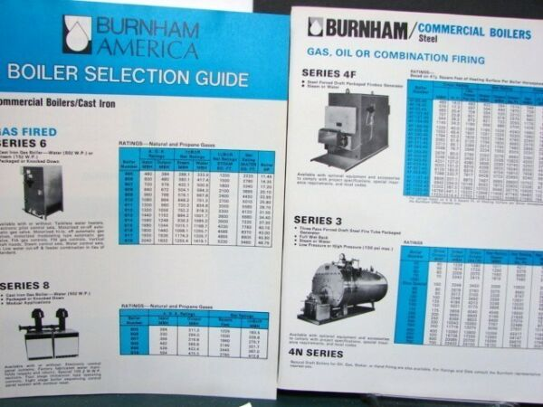 BURNHAM Corp Residential & Commercial BOILERS Selection GUIDE 4pg 1978 Asbestos?