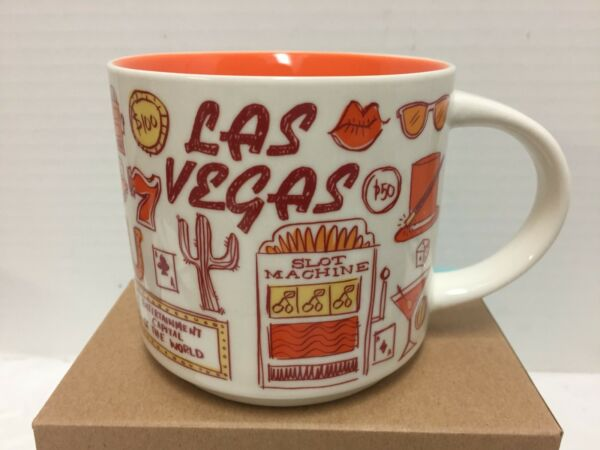 Starbucks Las Vegas Coffee Mug Been There Slot Machine Chips Dice New