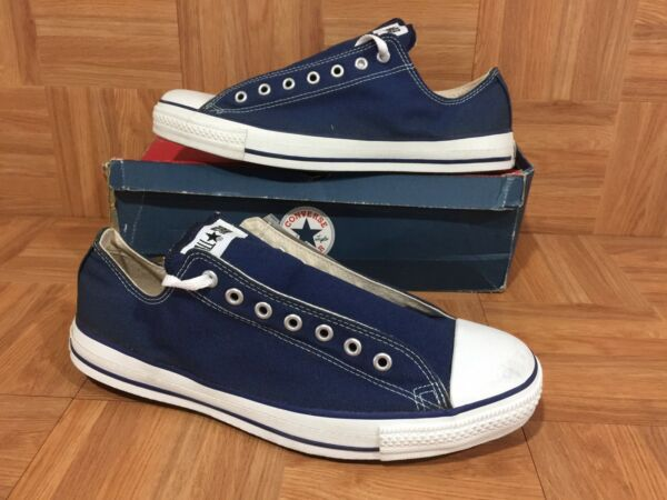 VTG🇺🇸 Converse Chuck Taylor All Star Original Low Ox Navy Made In USA 13 #2BC