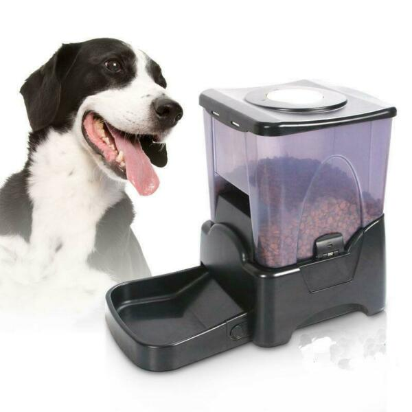 LCD Display Programmable Portion Control Large Automatic Dog Cat Pet Food Feeder $44.26