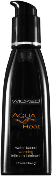 Wicked Aqua Heat Water Based Warming Lubricant 4.0 Oz $14.99