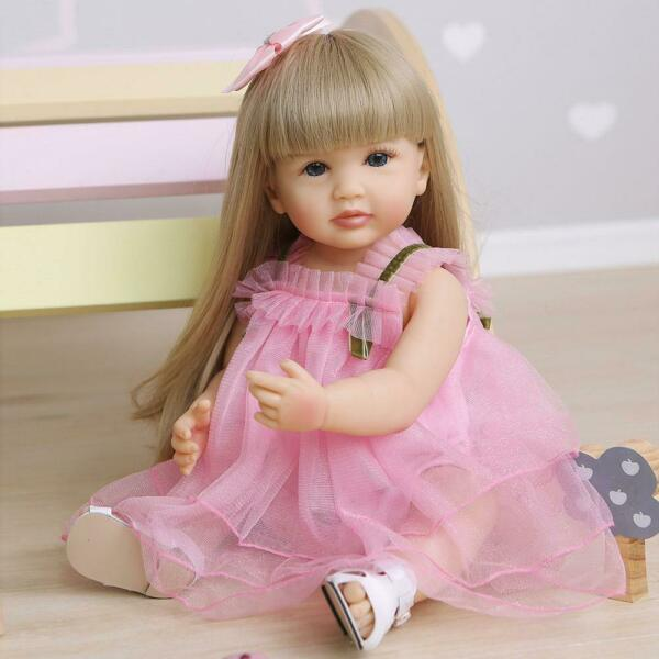 22quot; Full Body Silicone Vinyl Reborn Doll Lifelike Anatomically Correct Baby Girl