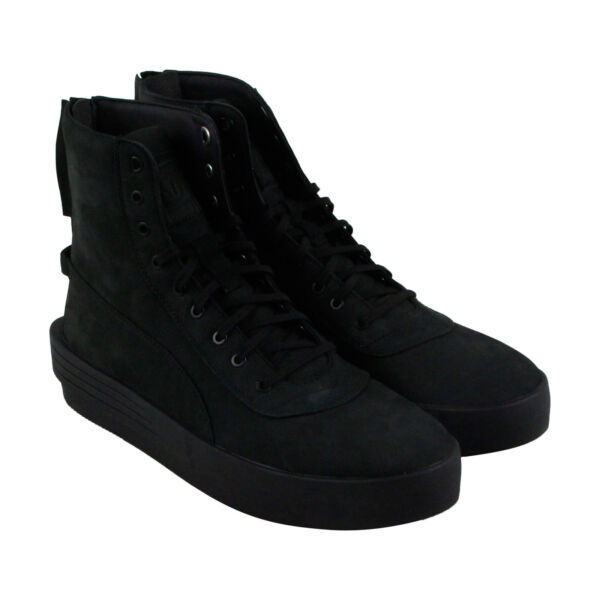 Puma Xo Parallel Mens Black Leather High Top Lace Up Sneakers Shoes