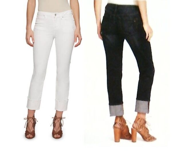 Jessica Simpson Womens Ladies Mid-rise Straight Cuff Jeans Varity Color  Size