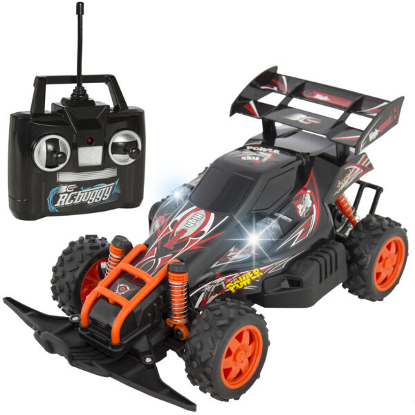 BCP RC Race Car Buggy w/ 4WD, Battery and Charger, LED Lights - Black/Red