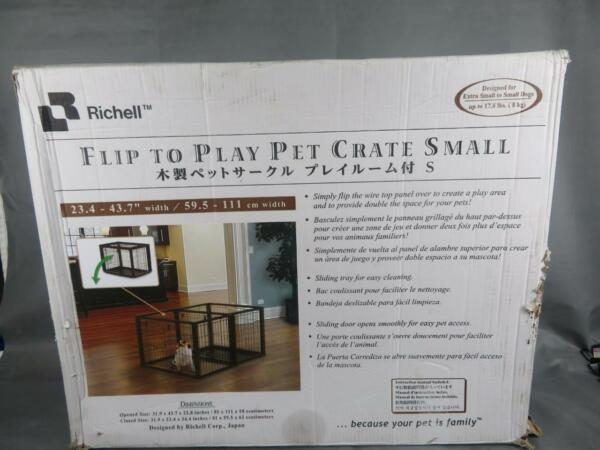 Richell Flip To Play Pet Crate Small For Extra Small to Small Dogs up to 17.6 Lb