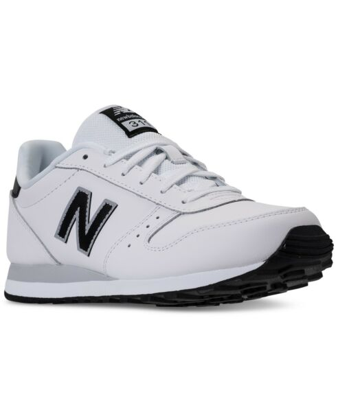 NEW MEN'S NEW BALANCE 311 LEATHER CASUAL SNEAKERS!!! IN WHITE BLACK! $65 RETAIL!