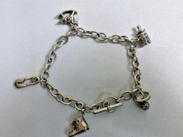 Sterling Charm Bracelet New Old Stock Sold Through The BonMarche'