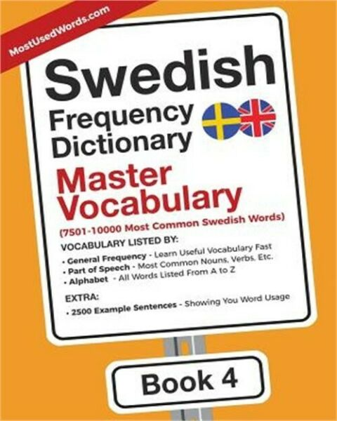 Swedish Frequency Dictionary - Master Vocabulary: 7501-10000 Most Common Swedish