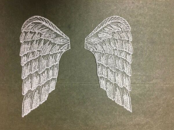 Angel wings sheer embroidered fabric crafts dolls lot of 3 pair