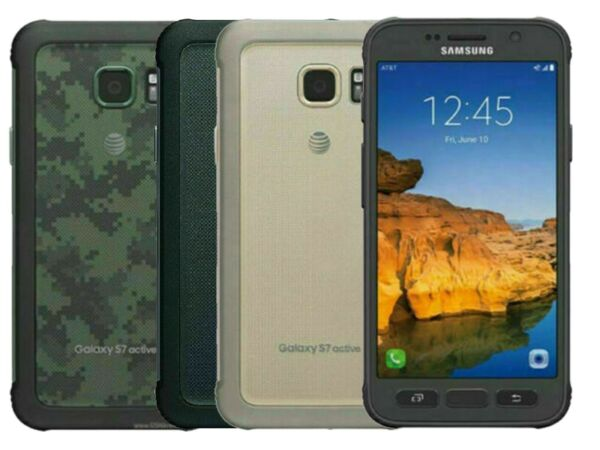 SAMSUNG GALAXY S7 ACTIVE G891A 32GB ATamp;T GSM UNLOCKED T MOBILE GREEN GOLD GRAY $64.99